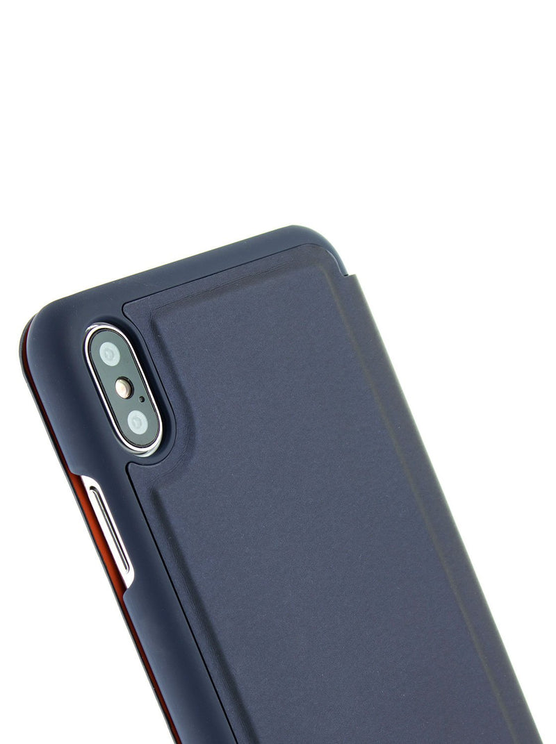 Detail image of the Ted Baker Apple iPhone XS / X phone case in Navy Blue