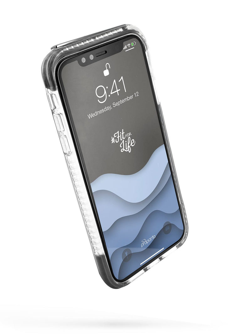 Front image of the Proporta Apple iPhone XS / X phone case in Grey