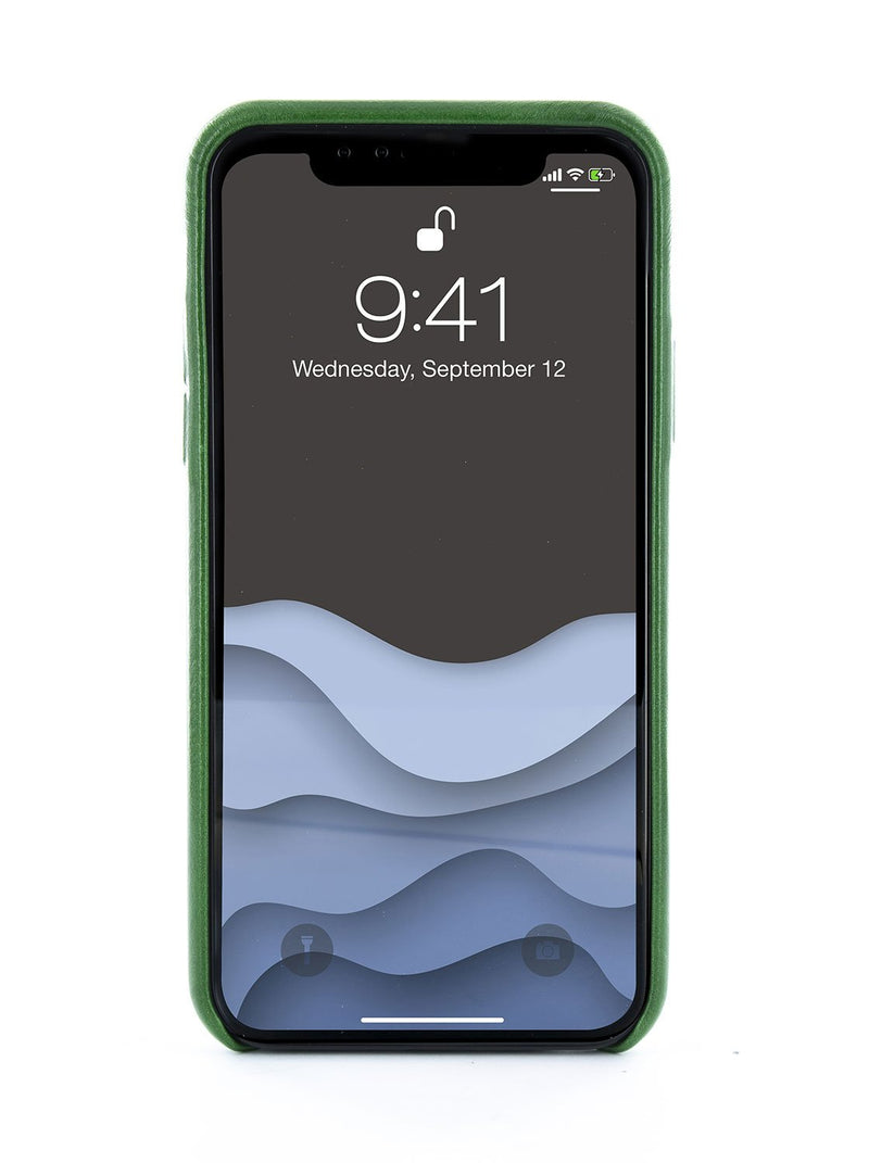 Back image of the Ted Baker Apple iPhone XS / X phone case in Dark Green