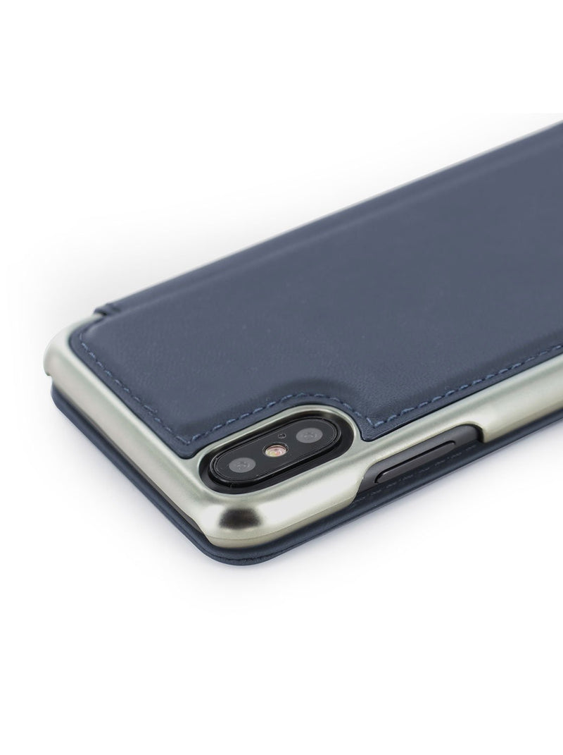Detail image of the Greenwich Apple iPhone XS / X phone case in Seal Grey