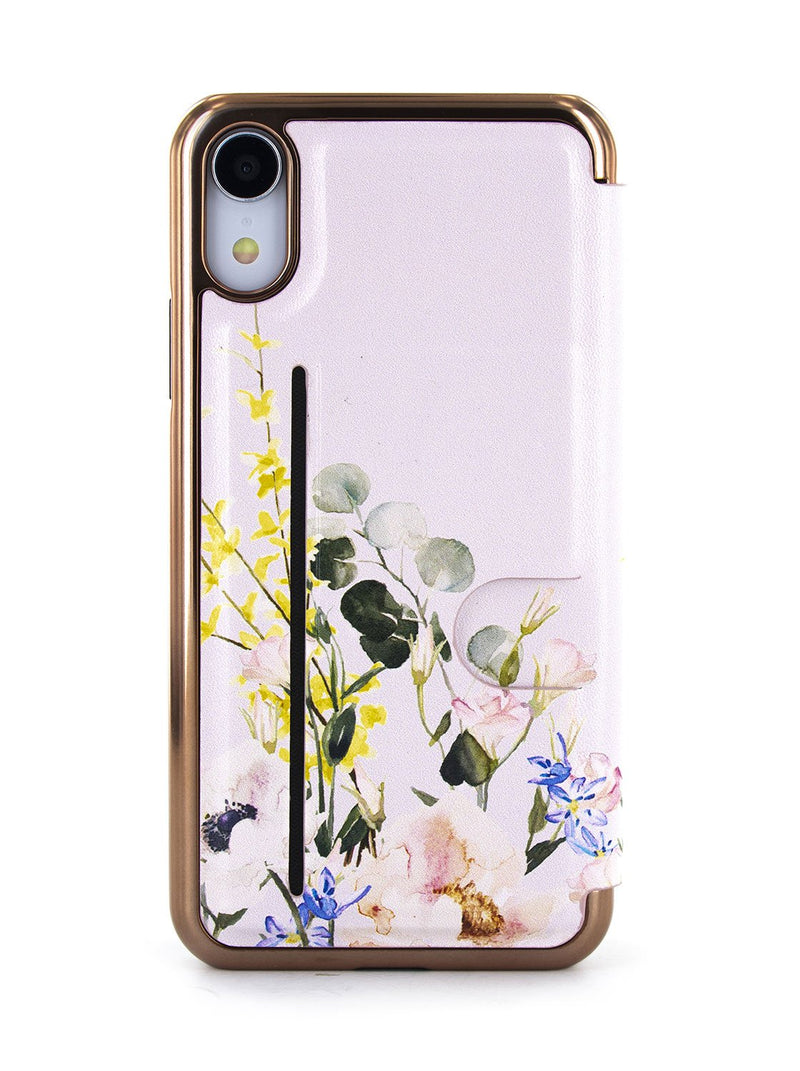 Back image of the Ted Baker Apple iPhone XR phone case in Pink