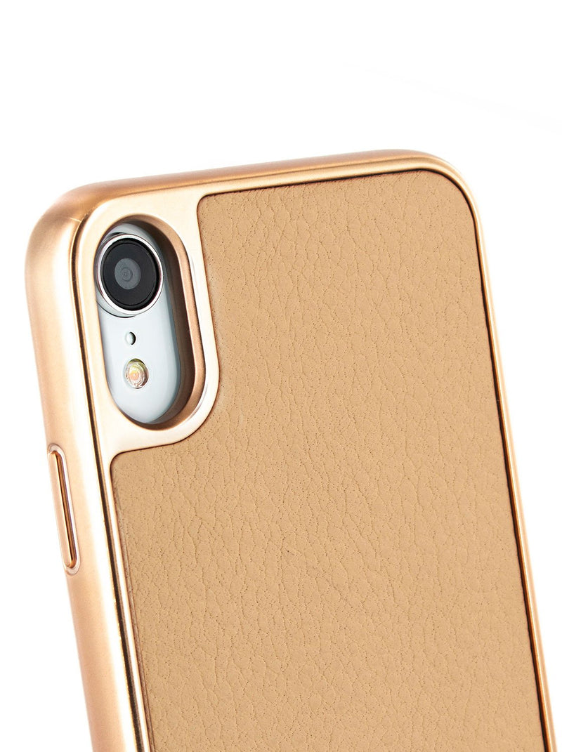 Detail image of the Ted Baker Apple iPhone XR phone case in Taupe