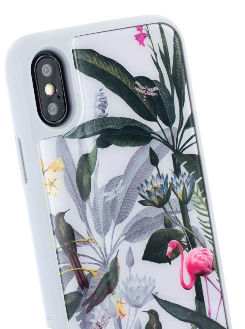 Detail image of the Ted Baker Apple iPhone XS / X phone case in Grey