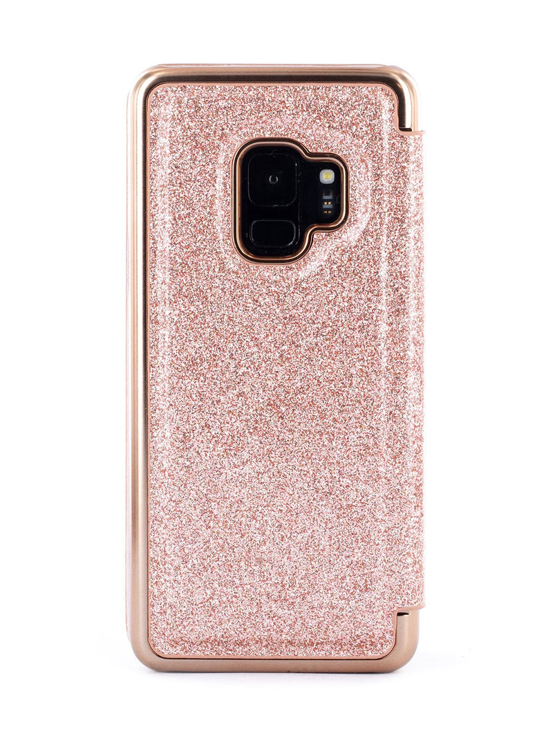 Back image of the Ted Baker Samsung Galaxy S9 phone case in Rose Gold