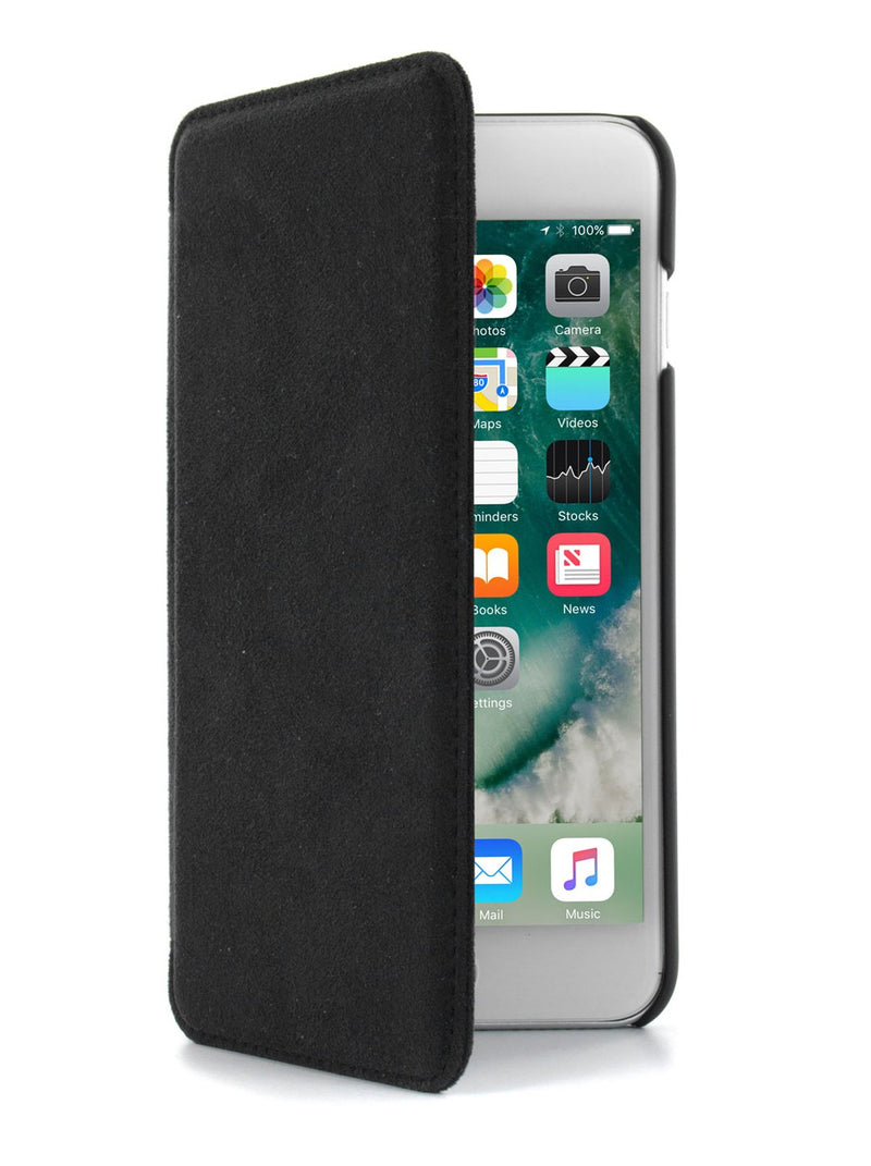 Flip cover image of the Greenwich Apple iPhone 8 Plus / 7 Plus phone case in Alcantara