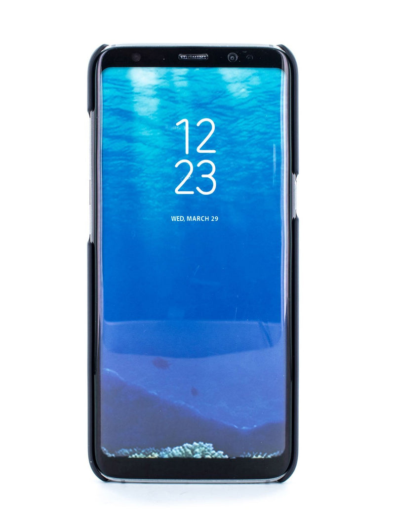Front image of the Ted Baker Samsung Galaxy S8 phone case in Navy Blue