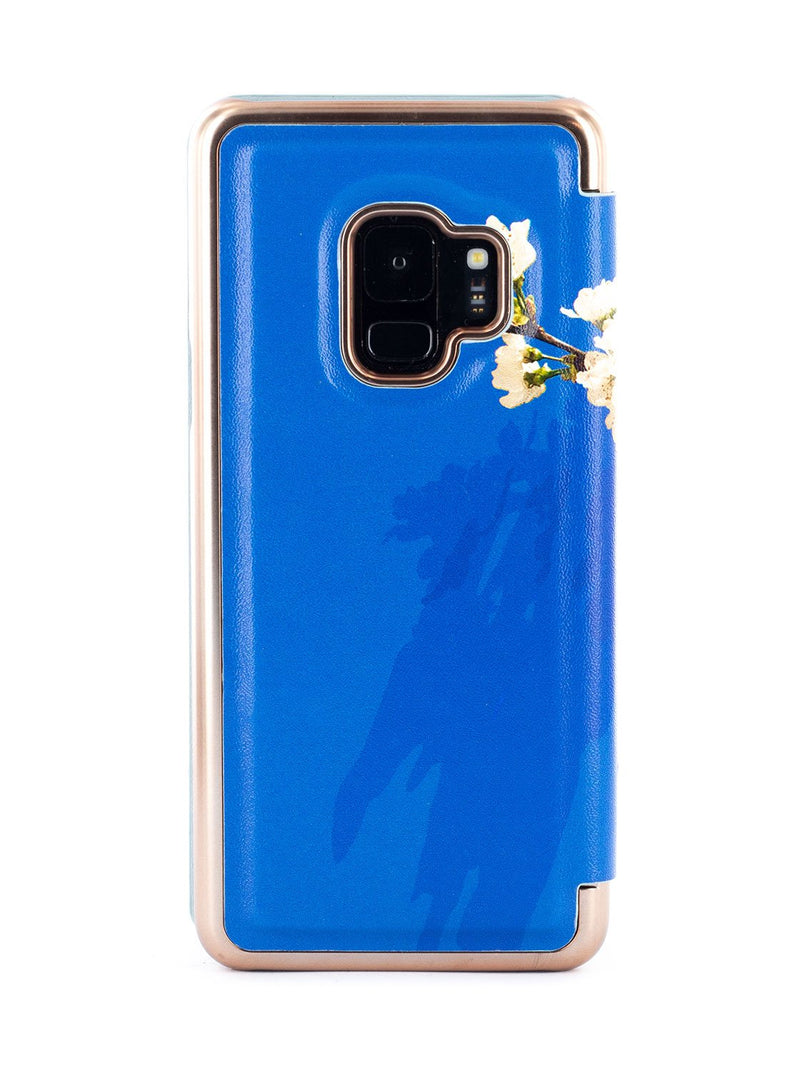 Back image of the Ted Baker Samsung Galaxy S9 phone case in Blue