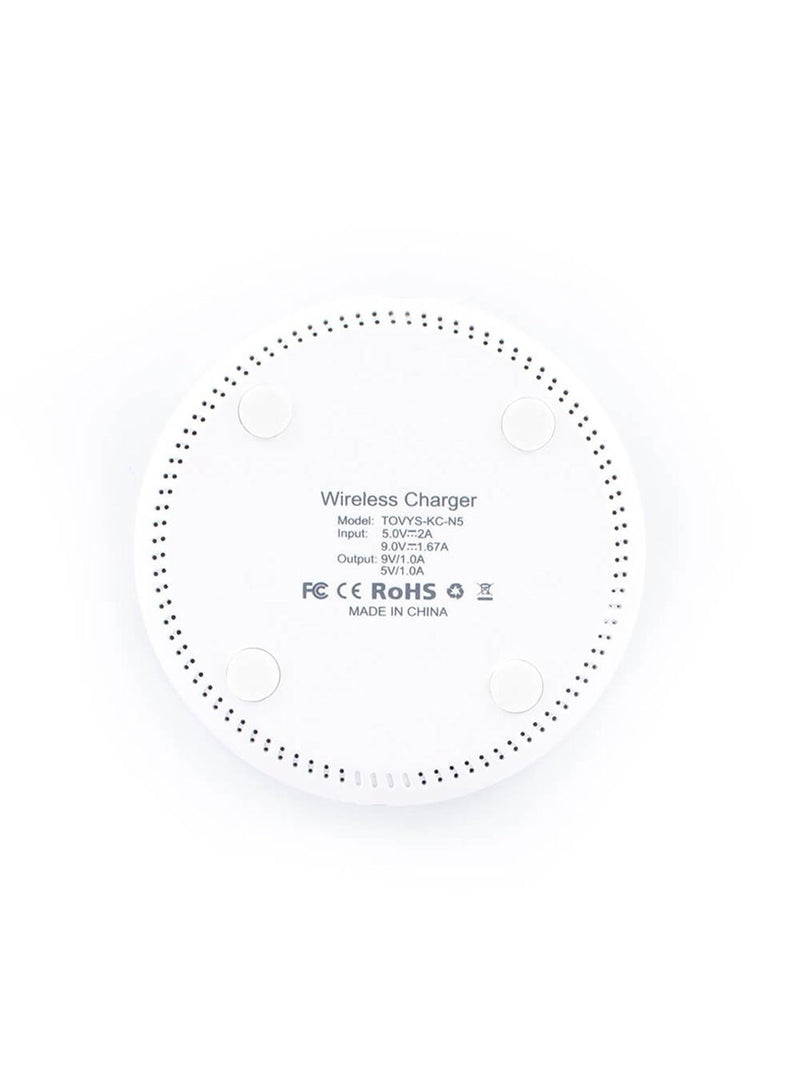 Hero image of the Proporta Universal Smartphone wireless charger in White