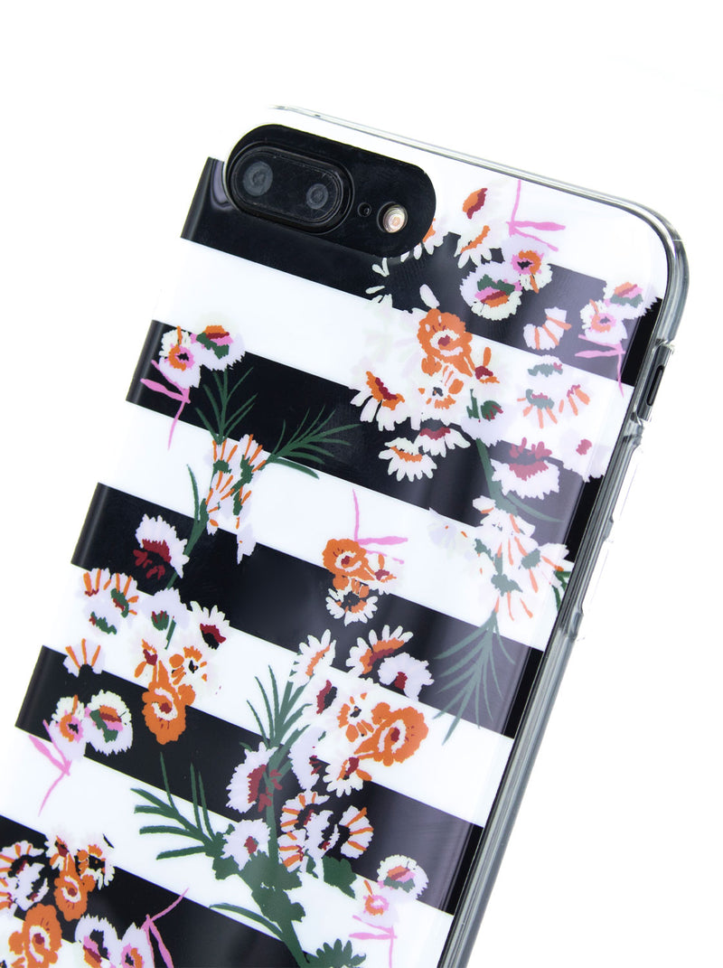 Karen Millen Slim Jelly Case for iPhone 8 Plus / 7 Plus / 6 Plus - Floral Stripe