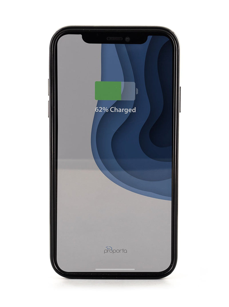 Back image of the Karen Millen Apple iPhone XR phone case in Black