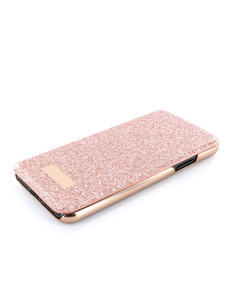 Face up image of the Ted Baker Apple iPhone XS / X phone case in Rose Gold