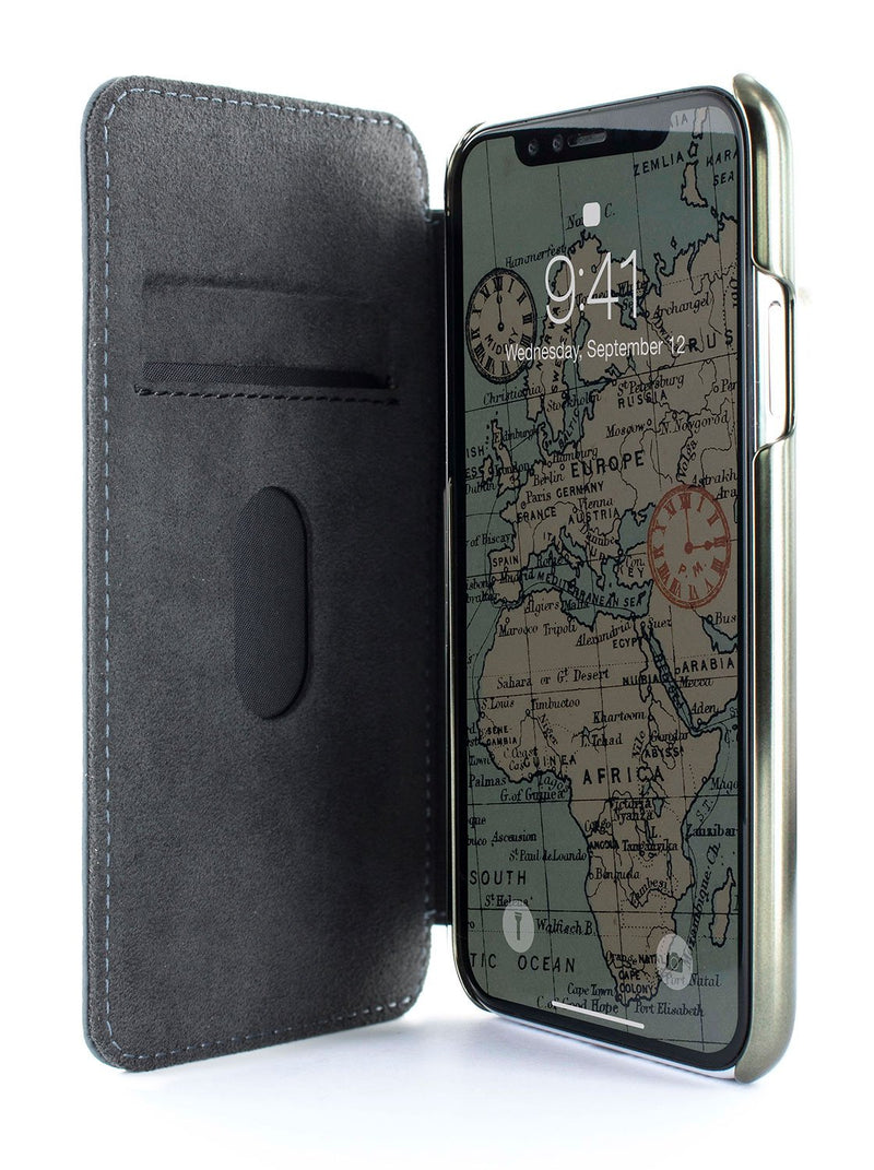 Inside image of the Greenwich Apple iPhone XR phone case in Seal Grey