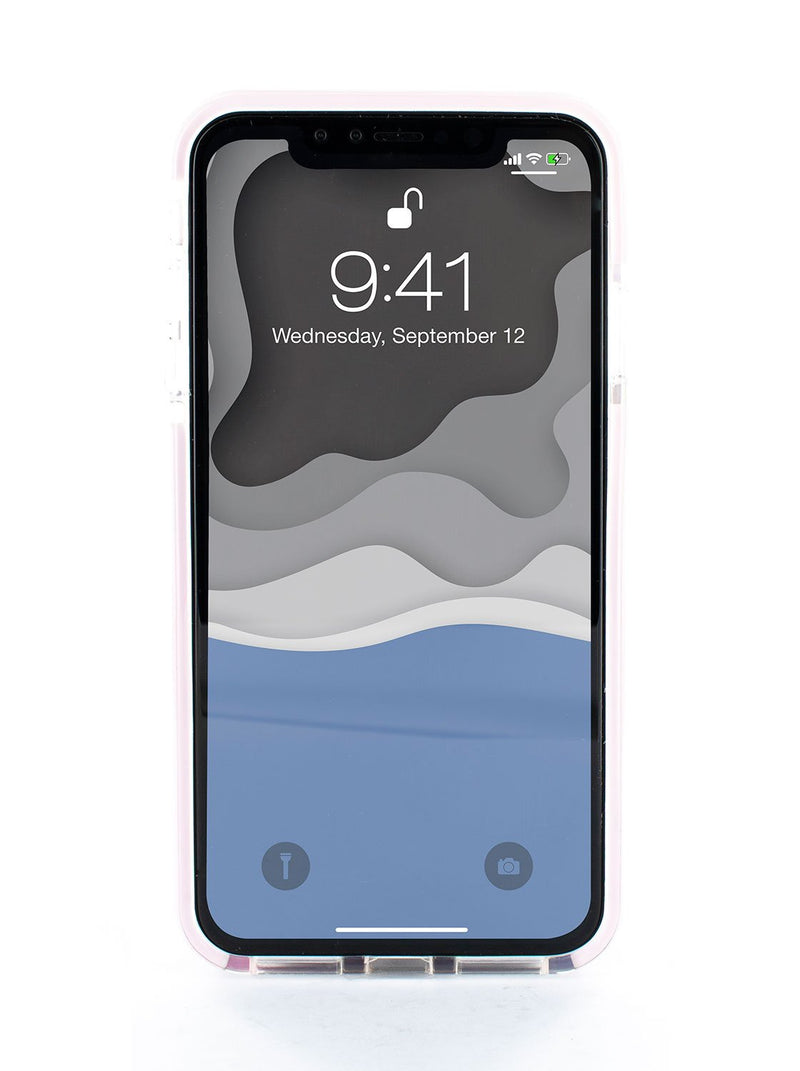 Front image of the Ted Baker Apple iPhone XS Max phone case in Clear Print