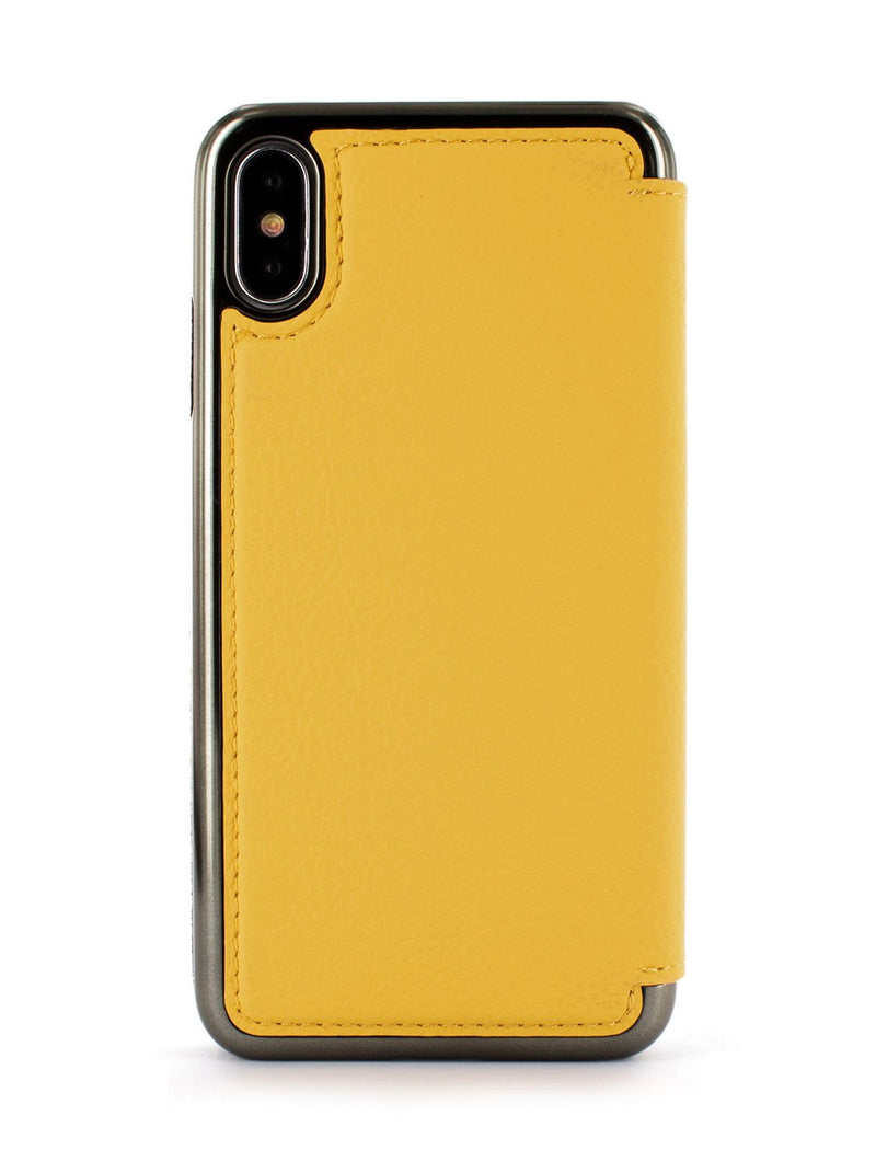 Back image of the Greenwich Apple iPhone XS / X phone case in Canary Yellow