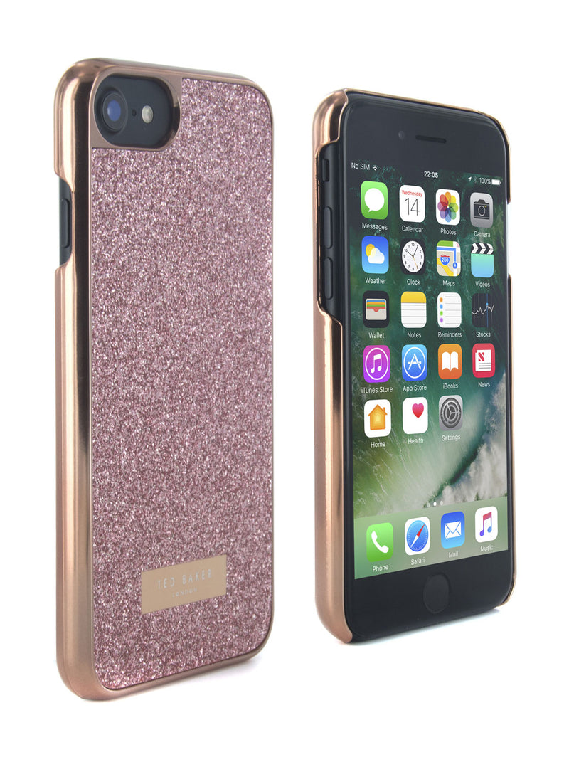 Ted Baker SPARKLS Glitter Hard Shell for iPhone 8 / 7 - Rose Gold