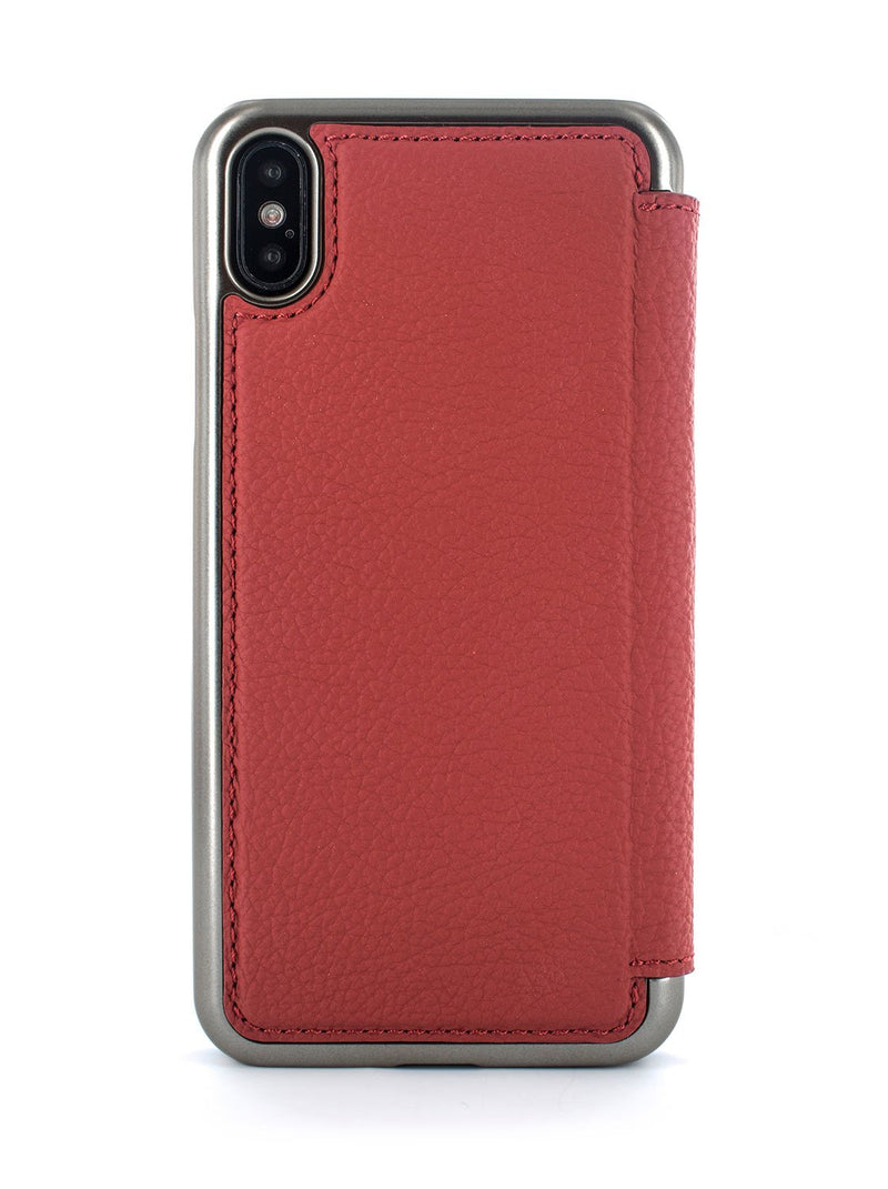Back image of the Greenwich Apple iPhone XS Max phone case in Scarlet Red