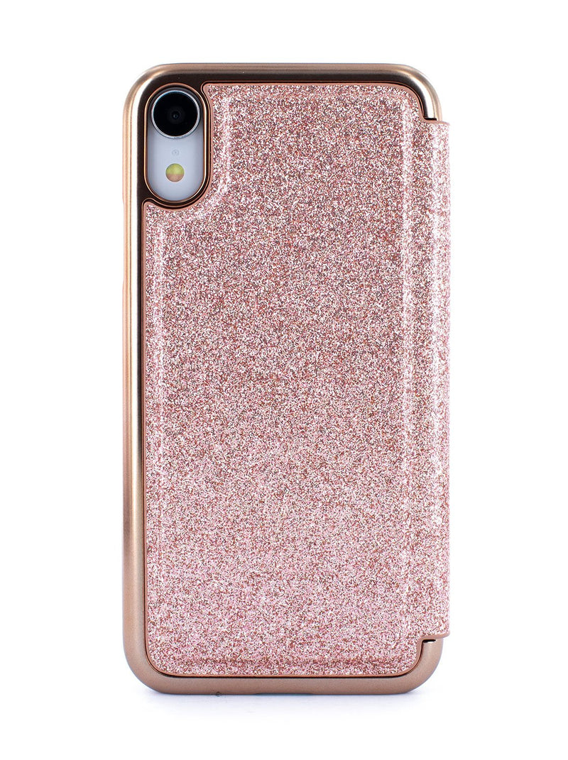 Back image of the Ted Baker Apple iPhone XR phone case in Rose Gold