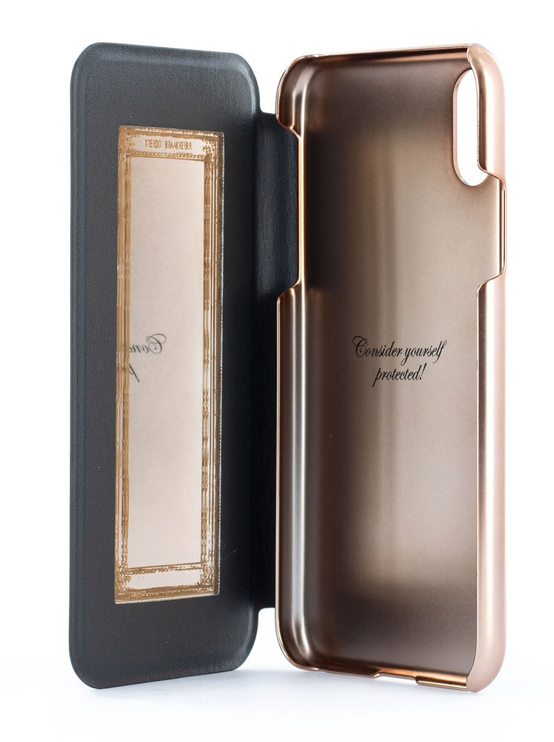 Inside image of the Ted Baker Apple iPhone XR phone case in Black