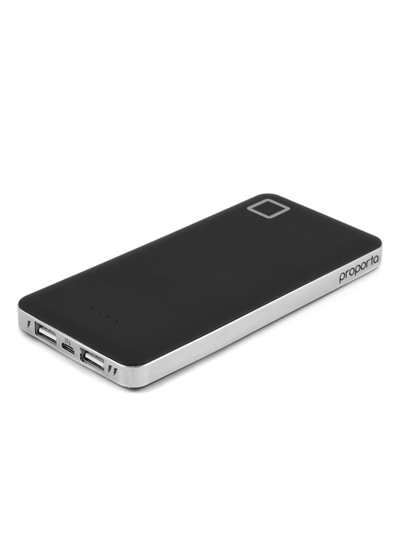 Face up image of the Proporta Universal power bank in Black