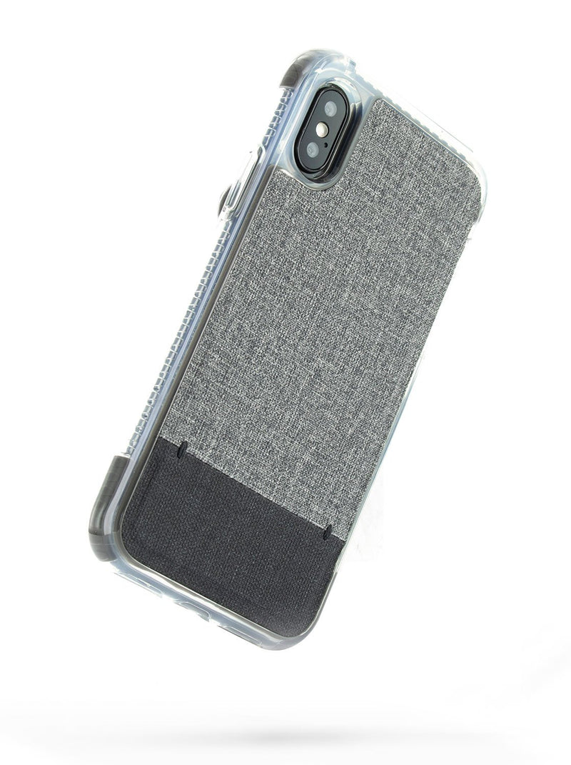 Back image of the Proporta Apple iPhone XS / X phone case in Grey