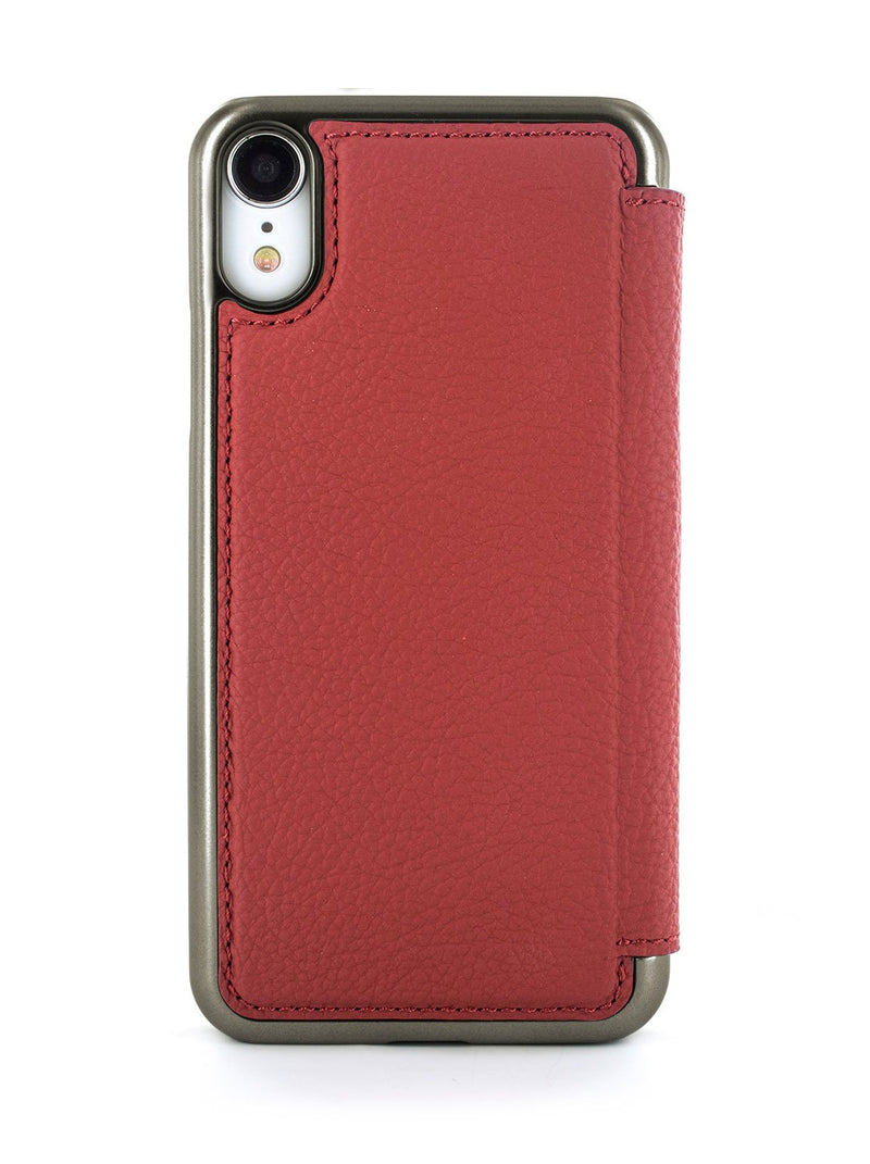 Back image of the Greenwich Apple iPhone XR phone case in Scarlet Red