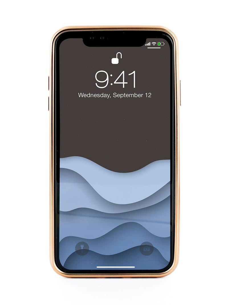 Back image of the Ted Baker Apple iPhone XS / X phone case in Taupe