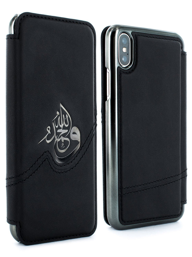 Front and back image of the Greenwich Apple iPhone XS Max phone case in Black