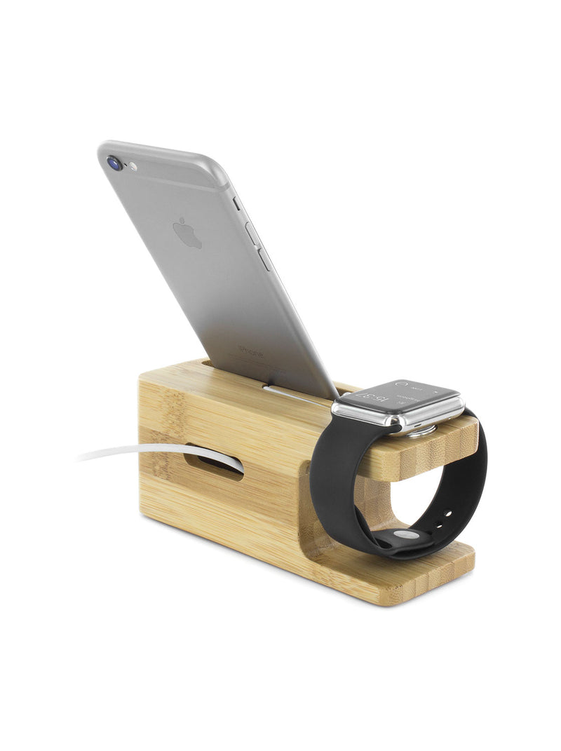 Apple Watch and iPhone Charging Stand - Bamboo
