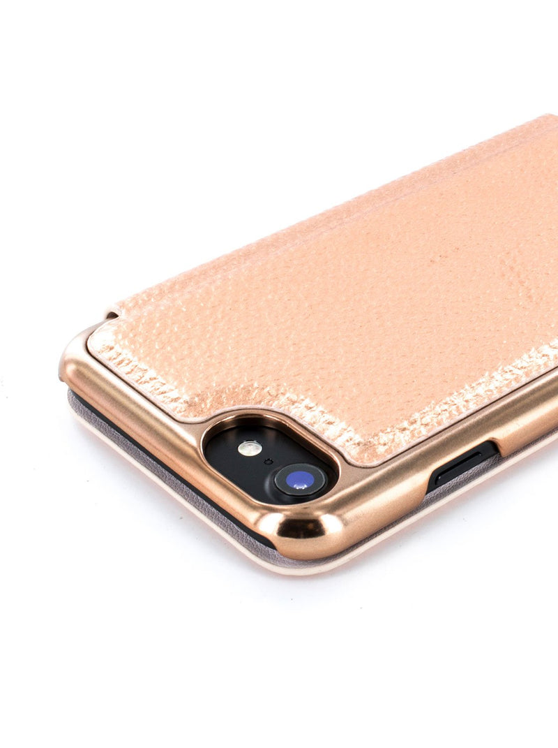 Face down image of the Ted Baker Apple iPhone 8 / 7 / 6S phone case in Rose Gold