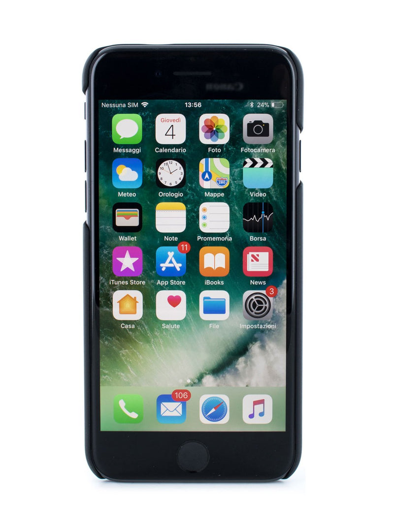 Front image of the Proporta Apple iPhone 8 / 7 / 6S phone case in Black