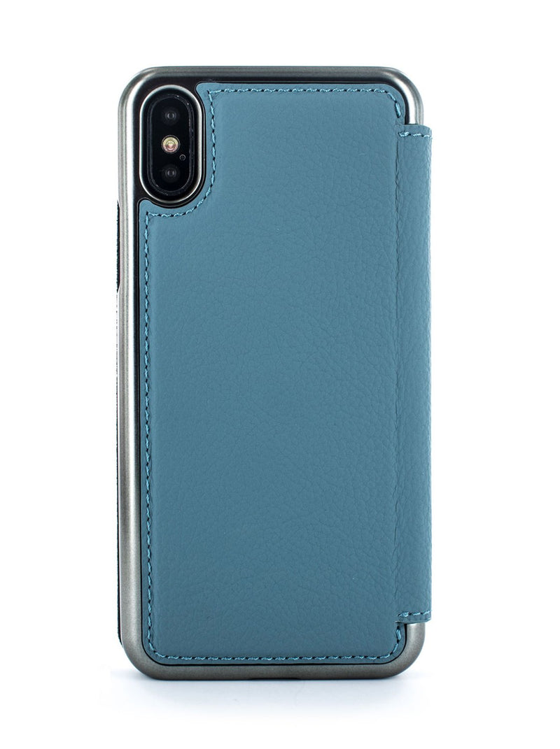 Back image of the Greenwich Apple iPhone XS / X phone case in Tahiti Blue
