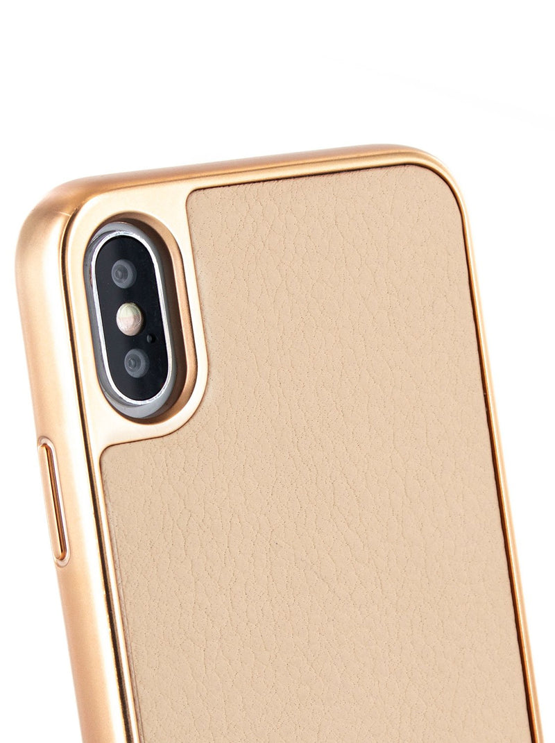 Detail image of the Ted Baker Apple iPhone XS Max phone case in Taupe