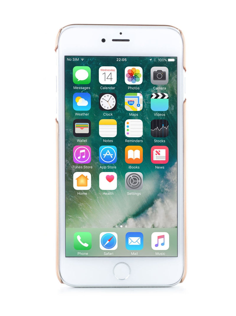 Front image of the Ted Baker Apple iPhone 8 Plus / 7 Plus phone case in Rose Gold
