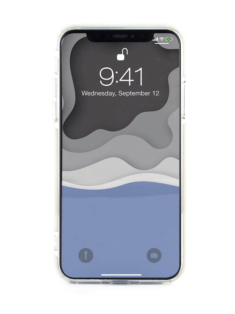 Back image of the Ted Baker Apple iPhone XS Max phone case in Clear Print
