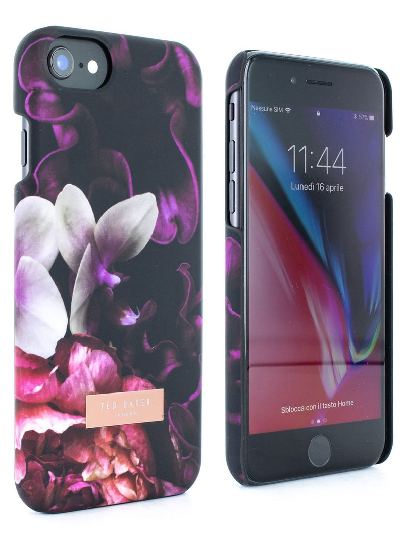 Front and back image of the Ted Baker Apple iPhone 8 / 7 / 6S phone case in Black