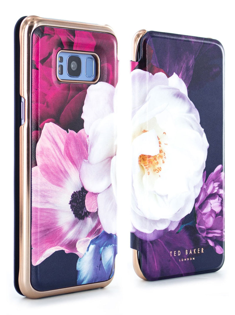 Front and back image of the Ted Baker Samsung Galaxy S8+ phone case in Black