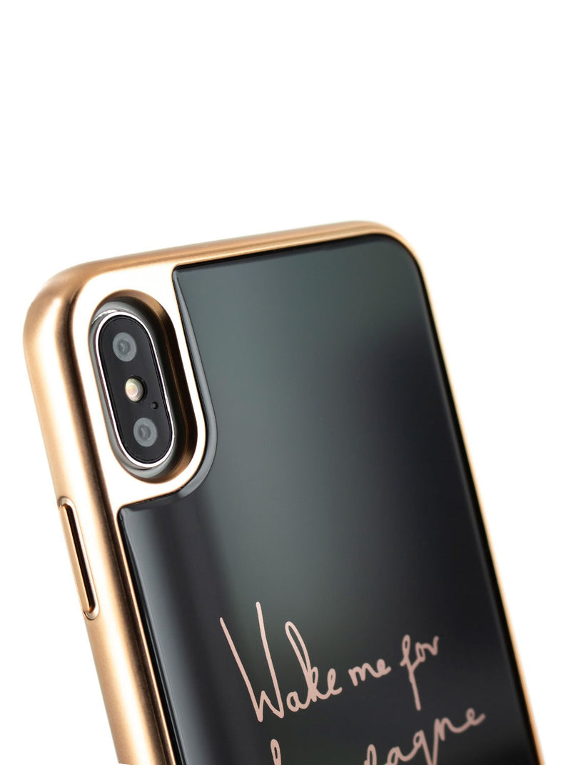 Detail image of the Ted Baker Apple iPhone XS Max phone case in Black