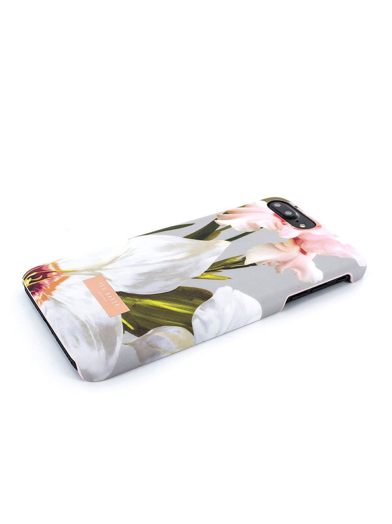 Face down image of the Ted Baker Apple iPhone 8 Plus / 7 Plus phone case in Mid Grey