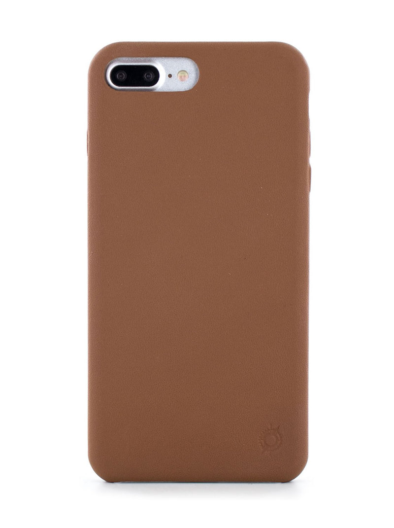 Hero image of the Greenwich Apple iPhone 8 Plus / 7 Plus phone case in Saddle Brown