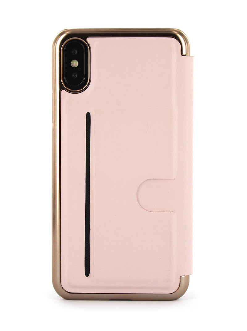 Back image of the Ted Baker Apple iPhone XS / X phone case in Rose Gold