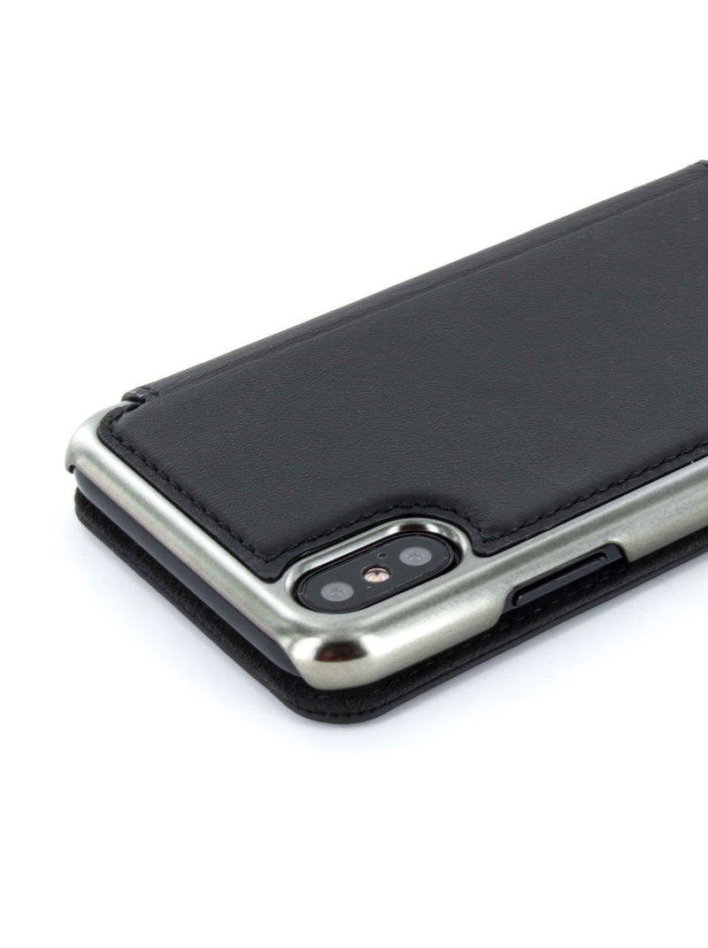 Detail image of the Greenwich Apple iPhone XS / X phone case in Beluga Black