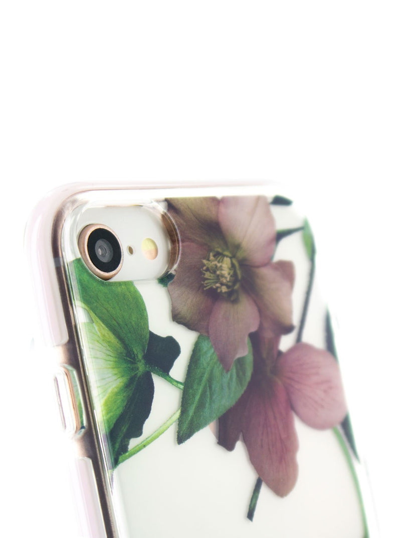 Detail image of the Ted Baker Apple iPhone 8 / 7 / 6S phone case in Clear Print