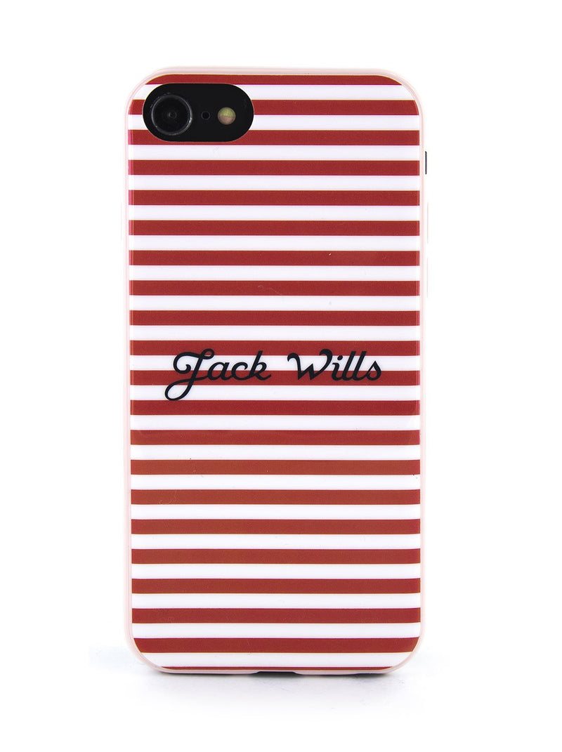 Hero image of the Jack Wills Apple iPhone 8 / 7 / 6S phone case in Red Stripe