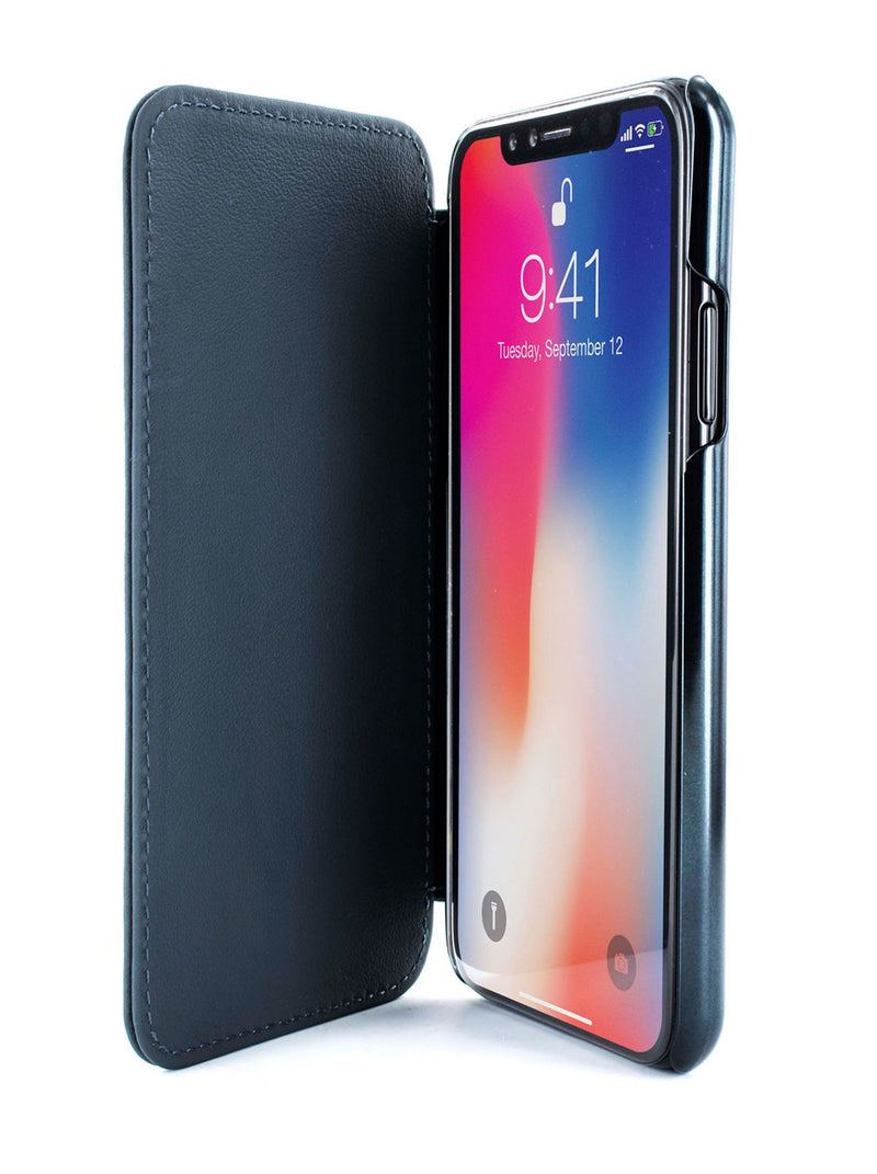 Inside image of the Greenwich Apple iPhone XS / X phone case in Black