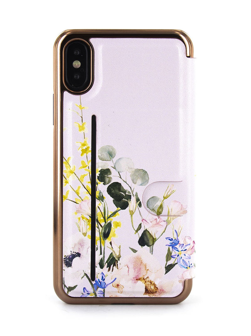 Back image of the Ted Baker Apple iPhone XS / X phone case in Pink