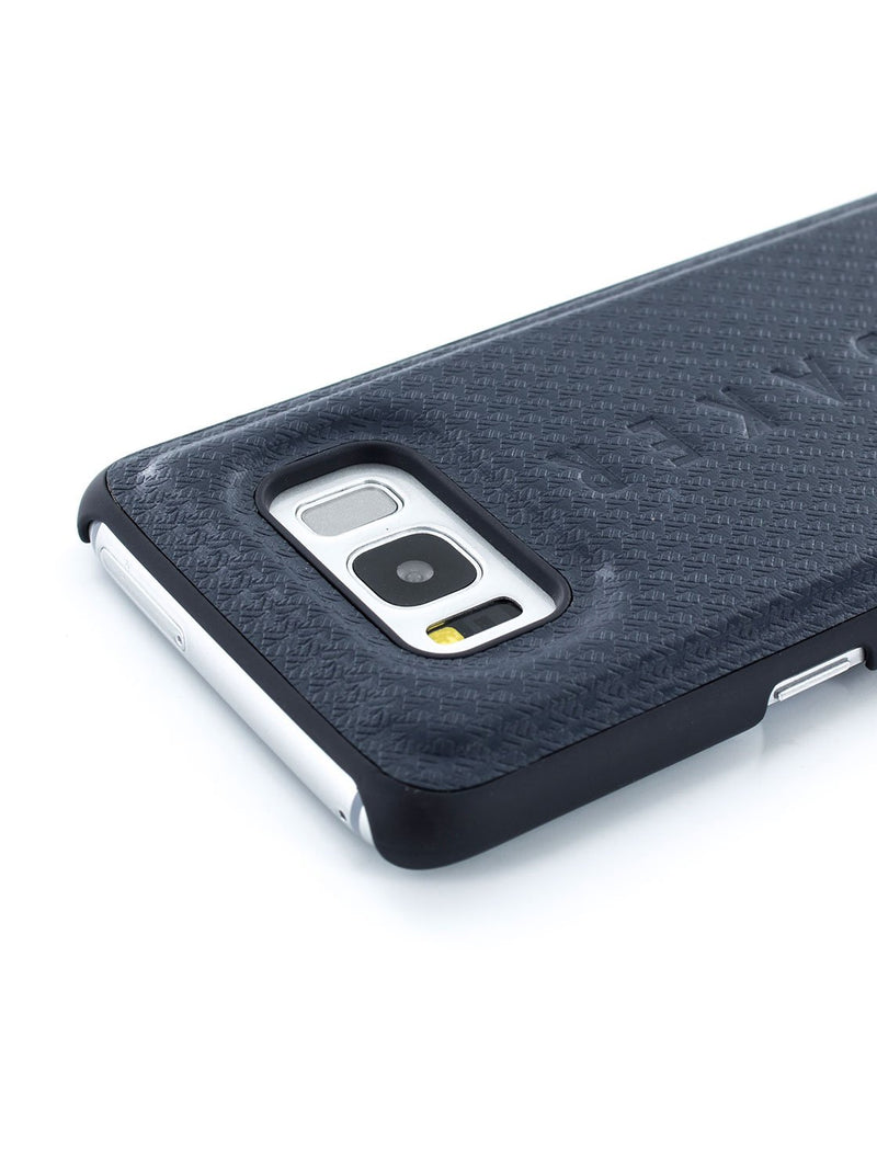 Detail image of the Ted Baker Samsung Galaxy S8 phone case in Navy Blue