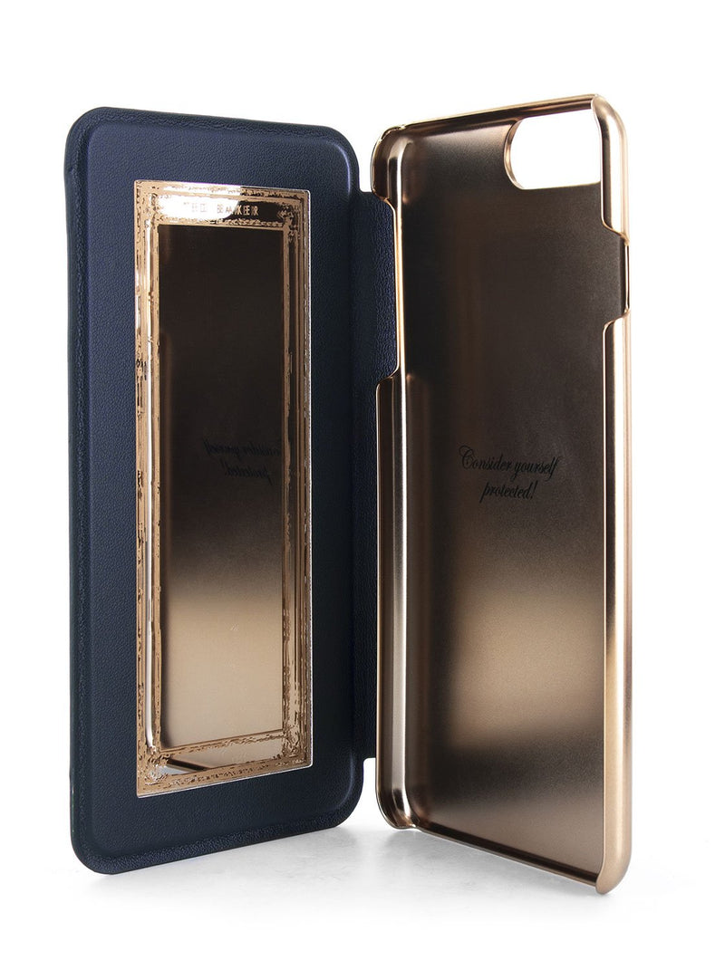Inside image of the Ted Baker Apple iPhone 8 Plus / 7 Plus phone case in Houdini Green style