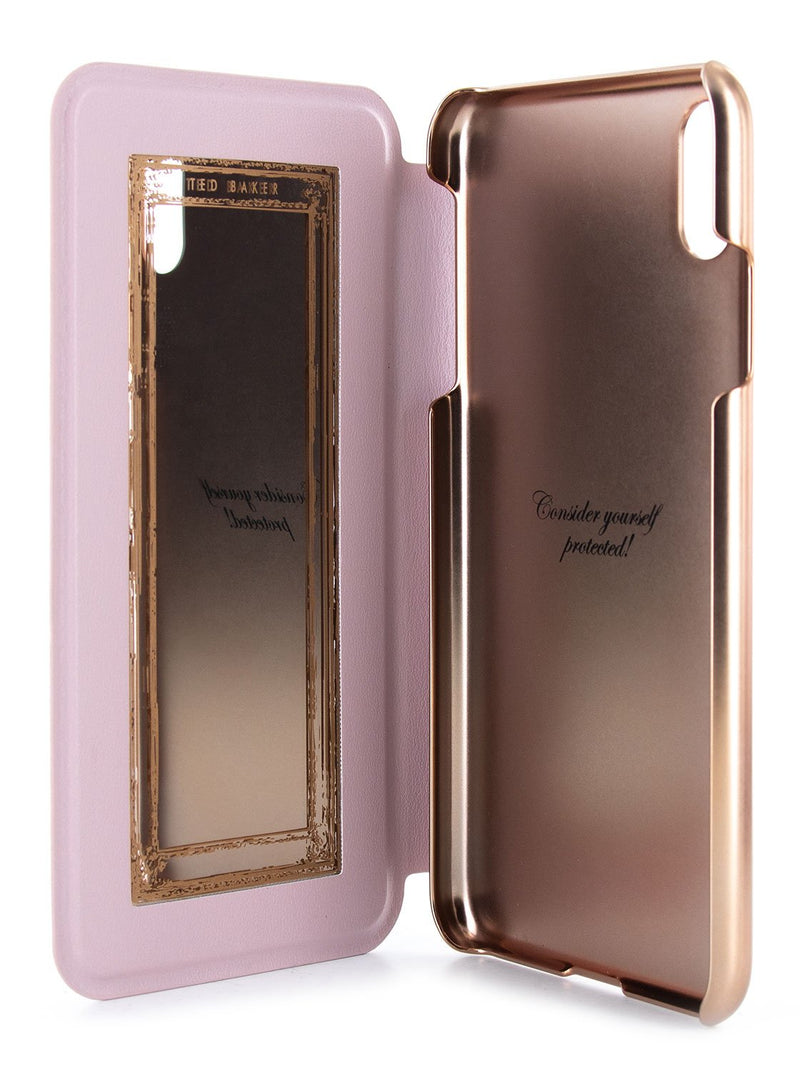 Inside image of the Ted Baker Apple iPhone XS / X phone case in Pink