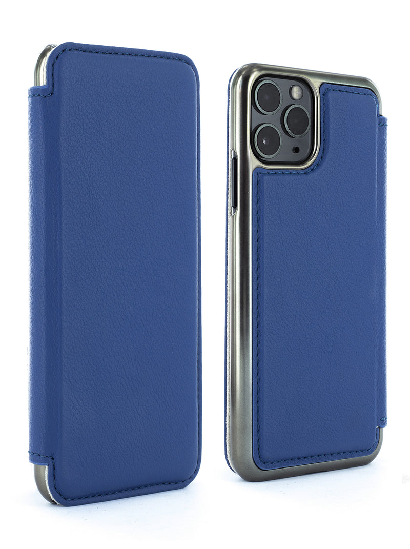 Greenwich DOGGER Luxury Leather Folio Case for iPhone 11 Pro Max - Persia / Gunmetal