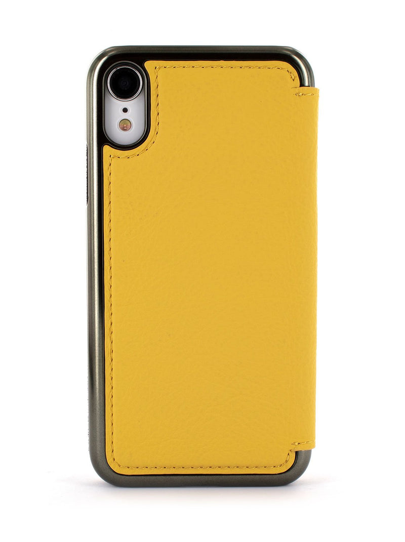 Back image of the Greenwich Apple iPhone XR phone case in Canary Yellow